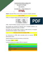 Guía de Estudio No. 1. HTML - Undécimo 11