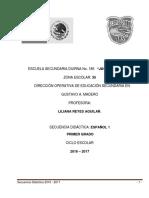 Secuencias Didactica 2016 - 2017 Bloque 1