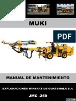 Manual de Mantenimiento Muki Jmc-259