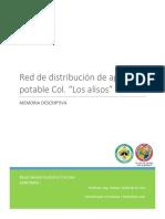 Red de Distribucion de Agua Potable Los Alisos