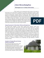 Solar Passive Silkworm Rearing House