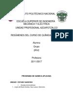 PROGRAMA DE QUIMICA APLICADA