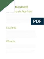 Aloe Vera Antecedentes