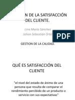 Medición de La Satisfacción Del Cliente