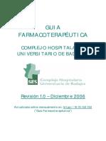 Guia Farmacoterapeutica Complejo Hospitalario Universitario de Badajoz 2006