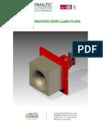 Manual Quemador Llama Plana 2.5MMBTUH