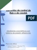 Elementos de Control de Flujo o de Caudal