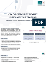 Csx Cybersecurity Nexus