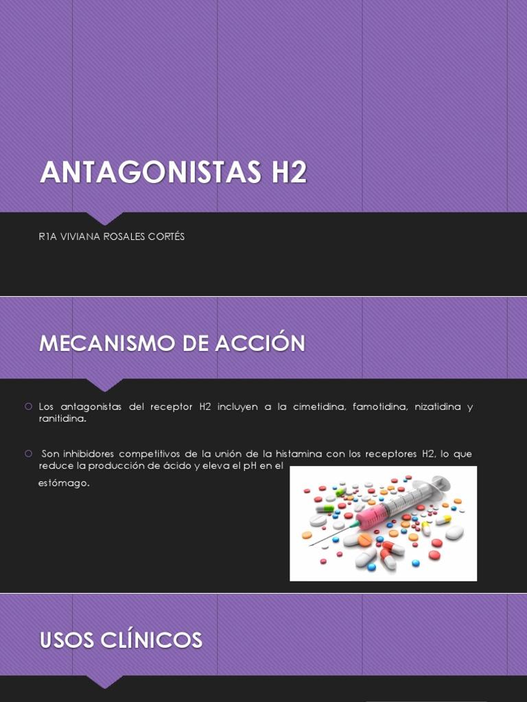medicamentos antagonistas del receptor h2 para la diabetes