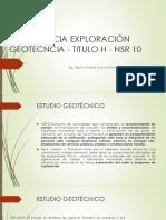 Exploración Geotecnica Nsr10