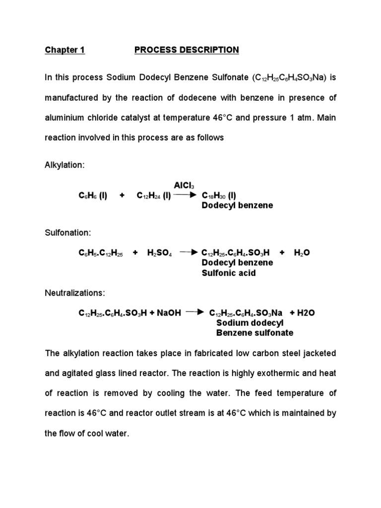 Process Description | Sodium Hydroxide | Sulfuric Acid
