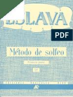 Método de Solfeo Eslava 1ª Part