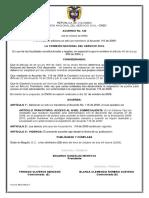 Acuerdo 122 de 2009