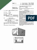 Patente Usd 317450