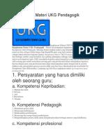 Rangkuman Materi UKG Pendagogik