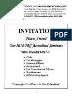 Seminars 2018 Cpd
