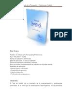 Ficha Técnica Inventario de La Percepción y Preferencias Kostick