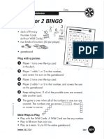 plus 1 or 2 bingo directions