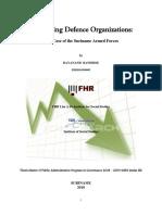Defense Organisation