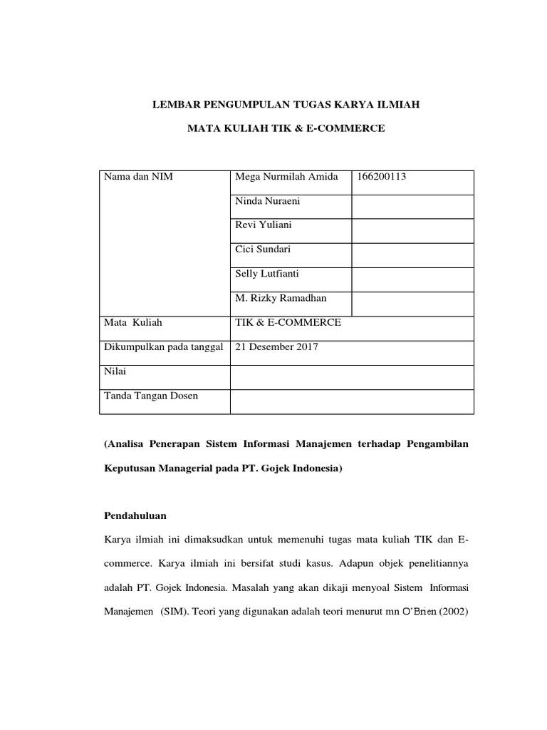Laporan Keuangan Pt Gojek Indonesia Seputar Laporan