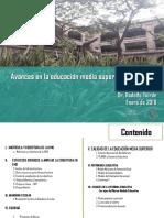 Avandes en Educ Media Superior Rodolfo Tuiran, 2012-2017