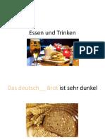 Essen Und Trinken - Adjektive
