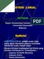 Anestesi Regional Dr.aw