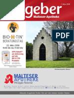 Ratgeber aus Ihrer Malteser-Apotheke –  März 2018
