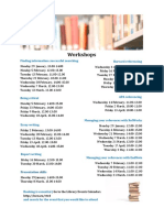 Workshops Flyer at University of Lincoln Library