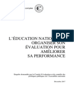 Rapport Cour des comptes Education Nationale
