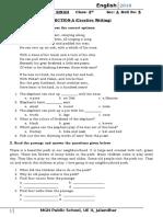 English Assessment Grade 3
