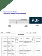 Risk Assessment_rev_00 (Construction of High Voltage Sub Station Autho r Arber Dogani _01.01.2015