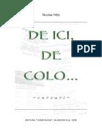 Nicolae Niță - DE ICI, DE COLO...