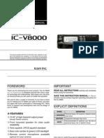 Icom IC-V8000 Instruction Manual