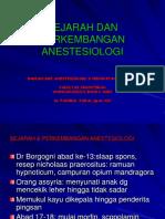 1. SEJARAH ANESTESIOLOGI