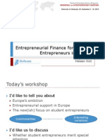 Entrepreneurial Finance for Student Entrepreneurs in Europe_HKIST_REE090910