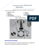 deadend filtration-standard operation procedures