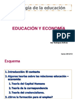 Tema 5. Educacion y Economia Powerpoint