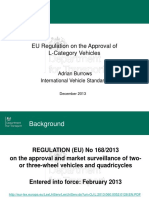 EU Regulation on the Approval of L-Category Vehicles
