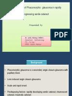 Power Point Presentation on Phacomorphic  glaucoma in rapidly   progressing senile cataract