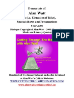 Alan Watt Blurb Transcripts 2006
