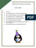 Calendarul Sărbătorilor Oficiale Și Neoficiale