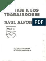 Discurso de Raul Alfonsin - Movimiento Nacional de Renovación Sindical