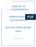 Manual de Procedimientos Sonda Vesical