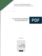 Bernades, jose A C. Os estudos literarios na universidade.pdf