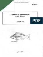 Inventaire Des Poissons Marins de La Reunion Version 1999