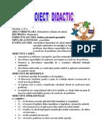 Proiect lectie Comisie Metodica
