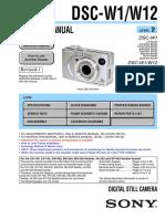 Sony Dsc-w1, w12 Service Manual Level 2 Ver 1.9 2007.11 Rev-1 (9-876-736-3a)