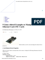9 Linux Ethtool Examples to Manipulate Ethernet Card (NIC Card)