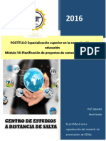 COMUNICACION 7 MODULO 7. Planificacion de Proyectos de Comunicacion Educativa